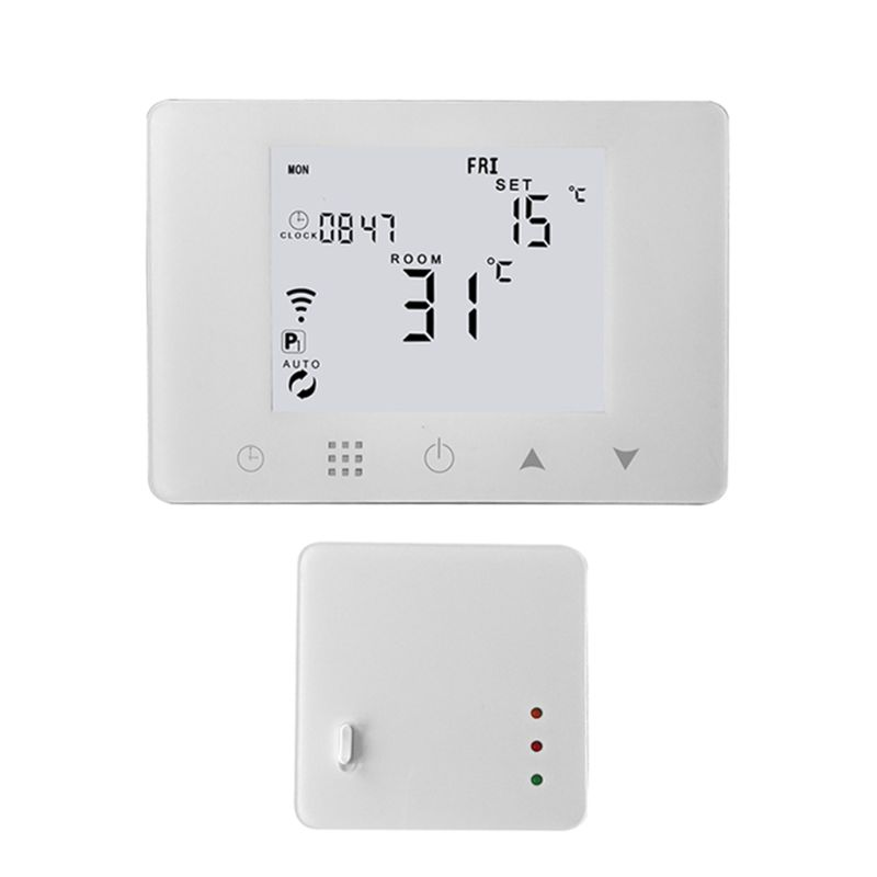WiFi RF Wireless Room Thermostat Wall hung Gas Boiler Heating Remote Control Temperature Controller for Alexa