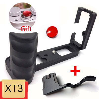 L plaque de fixation rapide verticale QR support de caméra poignée de montage à la main pour FUJI FUJIFILM X-T3 XT3 XT-3 arca-swiss RRS kirk