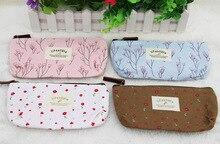 Moonbiffy hot venda nova flor floral lápis pen caso maquiagem cosméticos ferramenta saco de lona bolsa de armazenamento bolsa(China (Mainland))
