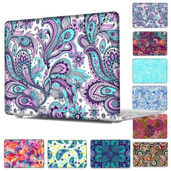 все цены на  Redlai Ethnic Pattern Clear Crystal Case For Macbook Air 13 & Case for Macbook Pro 13 15 with Touch bar Model A1706 A1707  онлайн