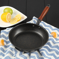 20 CM Frying Pan Non Stick No Oil Smoke Frying Steak Eggs Wok Pan General Use for Gas and Induction Cooker