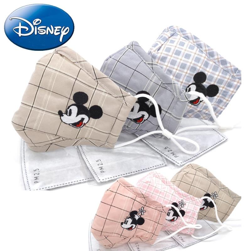 Disney 3pcs Anti  PM2.5 Children Mouth Mask Kid Mickey Breath Anti Haze Cartoon Breathable Mask Dust Mouth Respirator Face Masks
