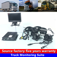 Power off protection system AHD 4CH local video Monitoring Truck Monitoring Suite can add supercapacitor aseismic wide voltage