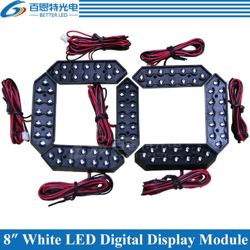 """4pcs/lot 8"""" White Color Outdoor 7 Seven Segment LED Digital Number Module for Gas Price LED Display module"""