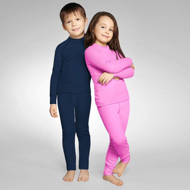 Kids Thermal Underwear Boys Set Girls Warm Sports Fleece Underwears Suit Skin Long Johns Free Shiping1510