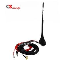 Araba anteni DAB DAB AM/FM radyo dahili amplifikatör SMB dişi konnektör evrensel çatı montaj çubuk anten 5m kablo