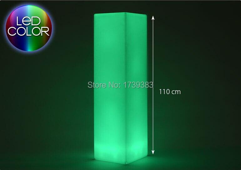 LED carré lumière tour pilier moyen cylindre lampadaire extérieur colonne lumineuse LED bloc lumière coloré carré colonne lumière