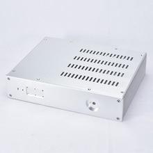 KSA 5 Серебряный алюминиевый усилитель аудио шасси мини усилитель мощности коробка DIY AMP Case