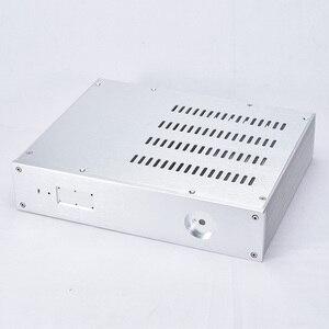 Image 1 - KSA 5 Серебряный алюминиевый усилитель аудио шасси мини усилитель мощности коробка DIY AMP Case