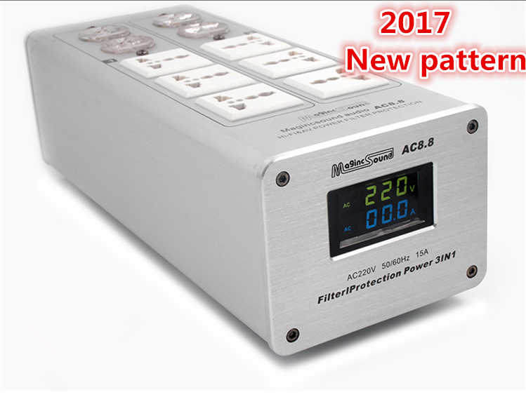 2017 Power filter Weiduka AC8.8 power supply socket lightning protection with voltage display extension socket power filter weiduka ac8 8 power supply socket lightning protection with voltage display extension socket