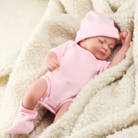 11 Inch Handmade Toy Soft Silicone Reborn Dolls Realistic Newborn Baby Girl Figurines Home Decor Girls Kids Baby Playmate Gift