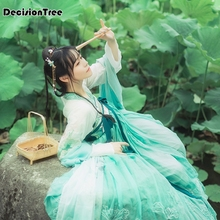 2019 women cosplay fairy costume hanfu clothing chinese traditional ancient dress dance stage cloth classic