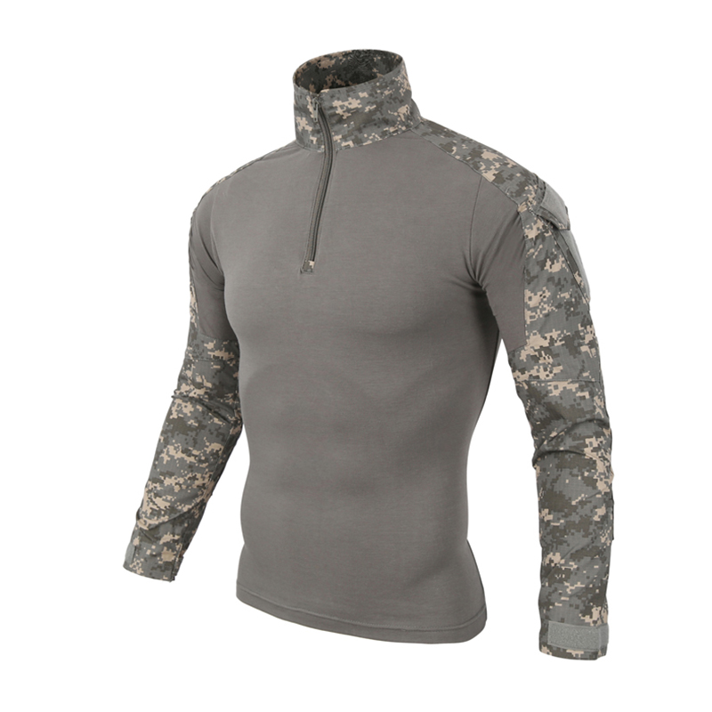 Zuoxiangru Gear Camouflage Army T-Shirt Men RU Soldiers Combat Tactical T Shirt Military Force Multicam Camo Long Sleeve T Shirt 2
