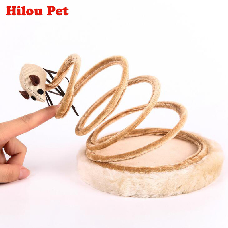 Pet Cat Funny Toy Spring Mouse Plate Sisal Cat Tree Sticks Toys Climb Frame Scratching Posts Pet Product Furniture