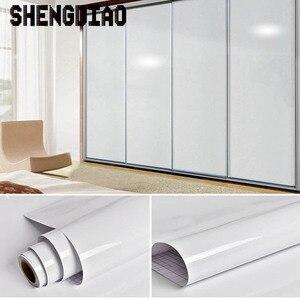 Image 4 - 3M/5M/10M waterproof pvc imitation marble pattern stickers self adhesive wallpaper window sill wardrobe cabinet table renovation