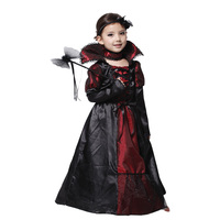 New Halloween Children Girls Princess Vampire Witch Zombie Children S Day Costume For Kids Long Dress