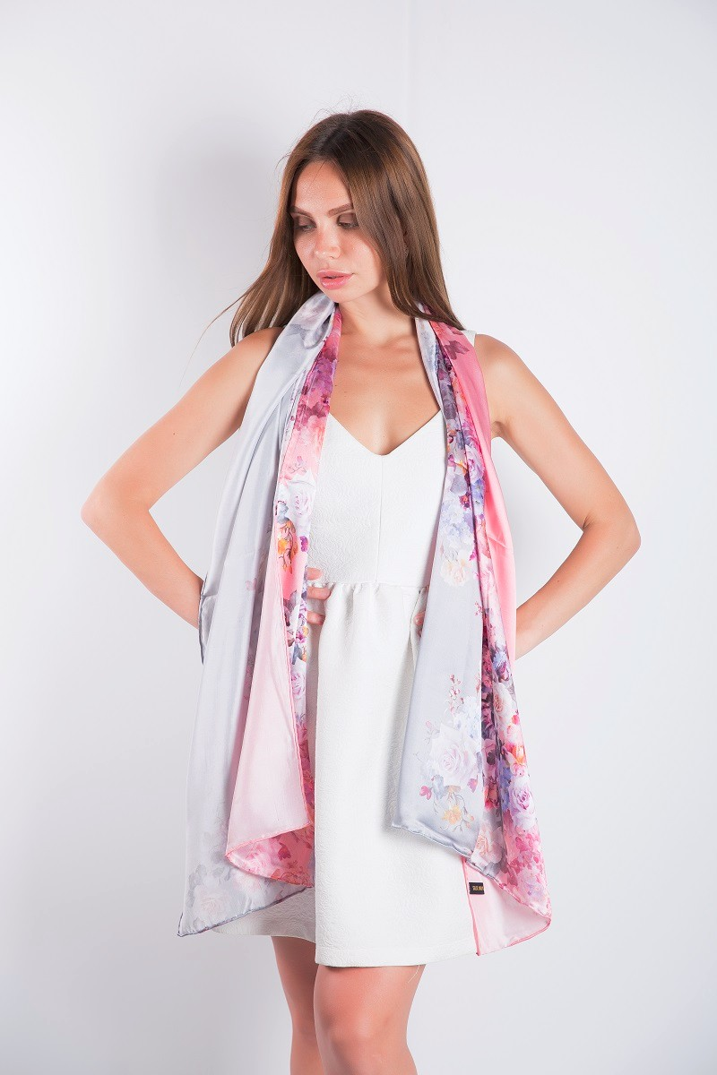 Scarves Silk and Print 17