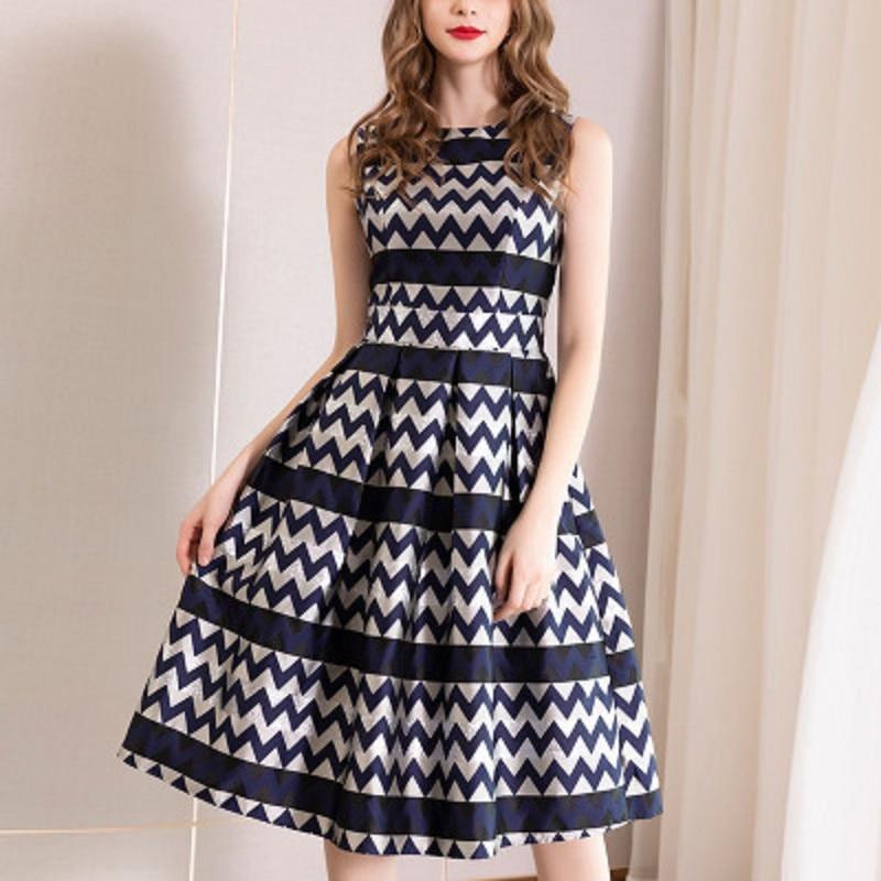 Sweet party casual Dress xl 2019 NEW High quality women s summer ladies Sleeveless dress Slim