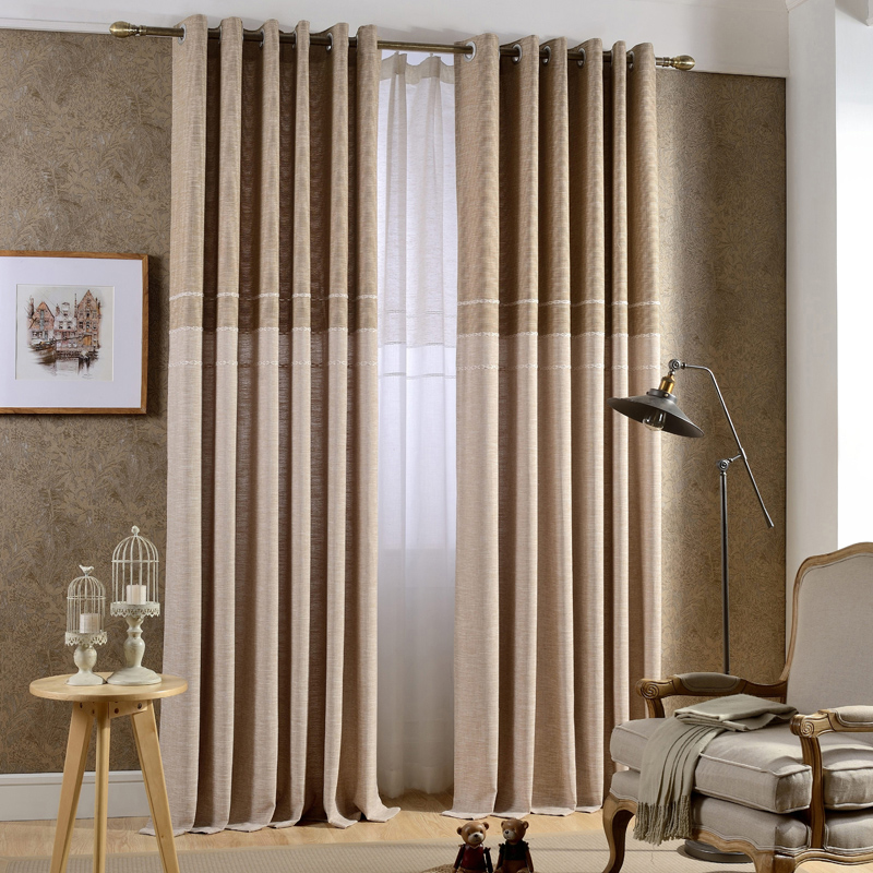 Japan Style Grey/Coffee Jacquard Thick Faux Linen Curtains For Living Room  Window Curtains For Bedroom Modern Curtains For Kids In Curtains From Home  ...