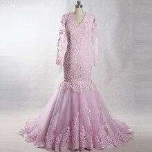 RSW1383 Yiaibridal V Neckline Long Sleeve Wedding Dress