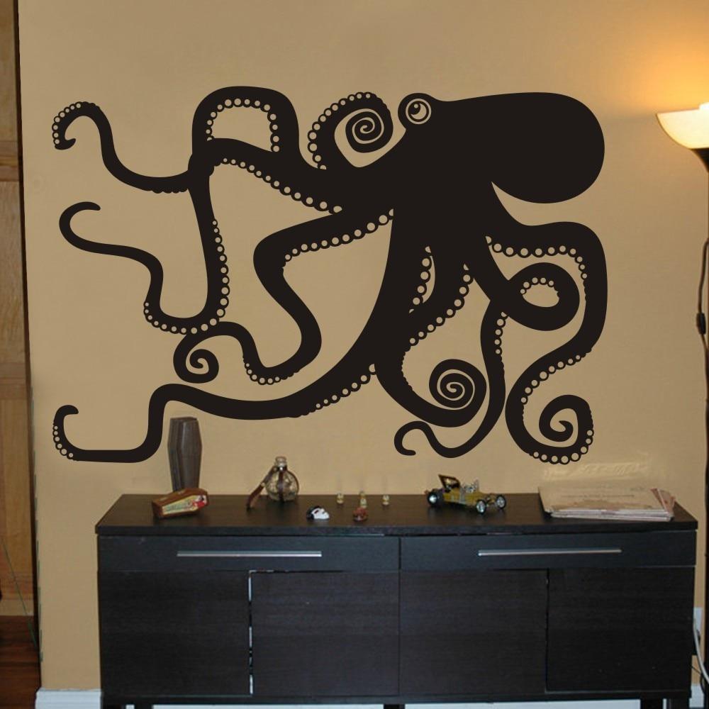 Merveilleux Housewares Octopus Sticker Bedroom Wall Decal Octopus Wall Graphic Mural  Bathroom Decal Living Room Sticker 153cm X107cm In Wall Stickers From Home  U0026 Garden ...