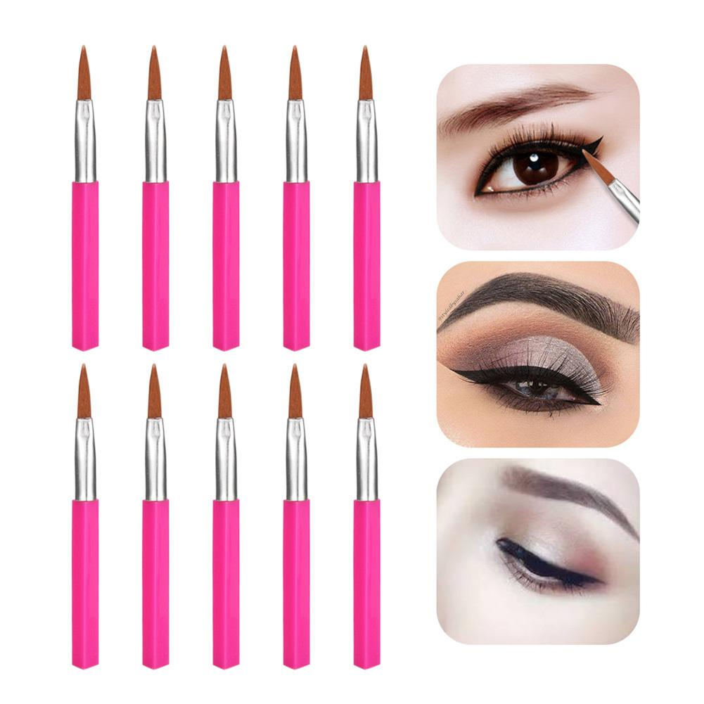 10Pcs Mini Professional Make Up Brushes Disposable Mini Plastic Eyeliner Brushes Beauty Cosmetic Tool pinceis de maquiagem image