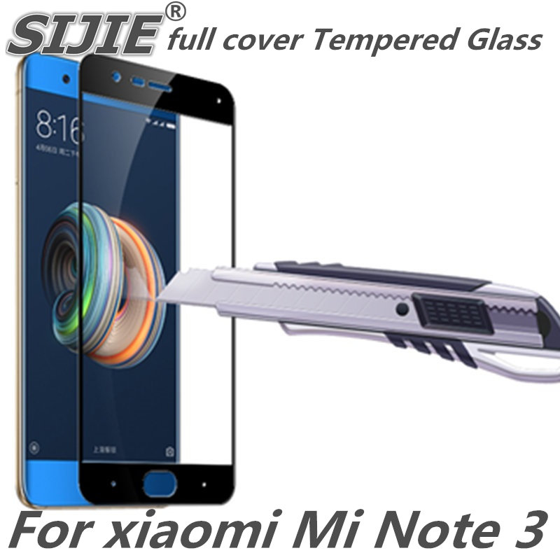 Full cover Tempered Glass for Xiaomi Note 3 MInote3 note3 MI phone Screen Protective Black frame all edge display cases film on