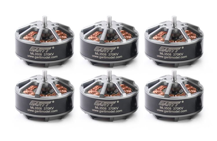 6PCS GARTT ML 3508 370KV 3508 Brushless Motor For RC Multi-rotor Quadcopter Hexacopter Drone new 3508 kv400 590 motor multi axis aerodynamic brushless external rotor