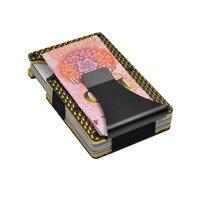 Metal Carbon Fiber Credit Card Holder New Slim RFID Blocking Black Blue Golden Pink Aluminum Clips Women Men Wallet M11