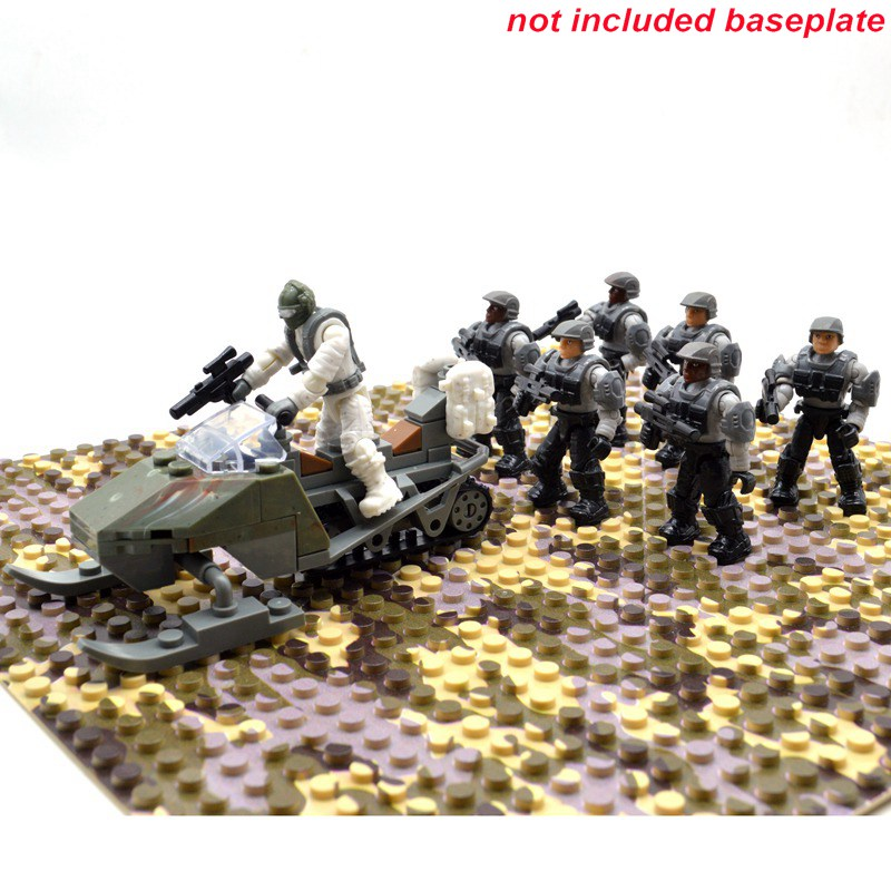Set Halo Game Army Duty Call Military Soldiers Series Warriors with Weapons Building Blocks Bricks Toys for Children цена