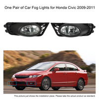 Car Styling LED One Pair Of Bumper Grille Fog Lights LED Lamp With Wiring Relay Switch
