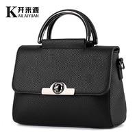 100 Genuine Leather Women Handbag 2017 New Sweet Lady Fashion Handbag Crossbody Shoulder Handbag Women
