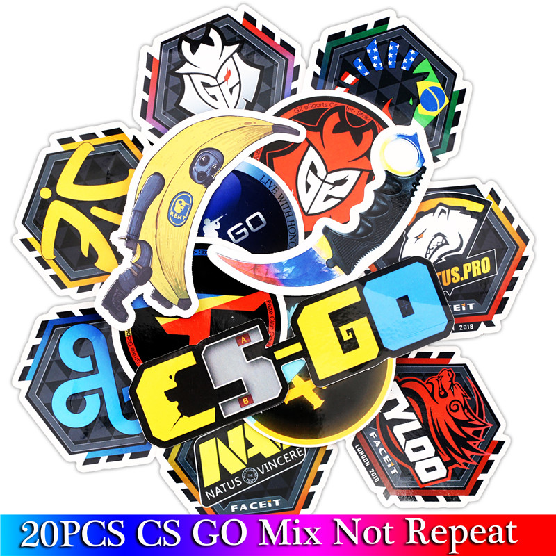 20PCS CS GO Game Stickers Children Stickers For Kids Luggage Skateboard Laptop Motorcycle Toy Stickers Sets