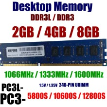 Desktops Memory 8GB 2Rx8 PC3-10600 DDR3 1333MHz 4096MB DDR3L 1600 PC3 12800 2GB 8500 1066MHz RAM 240-PIN Unbuffered NON-ECC DIMM цена