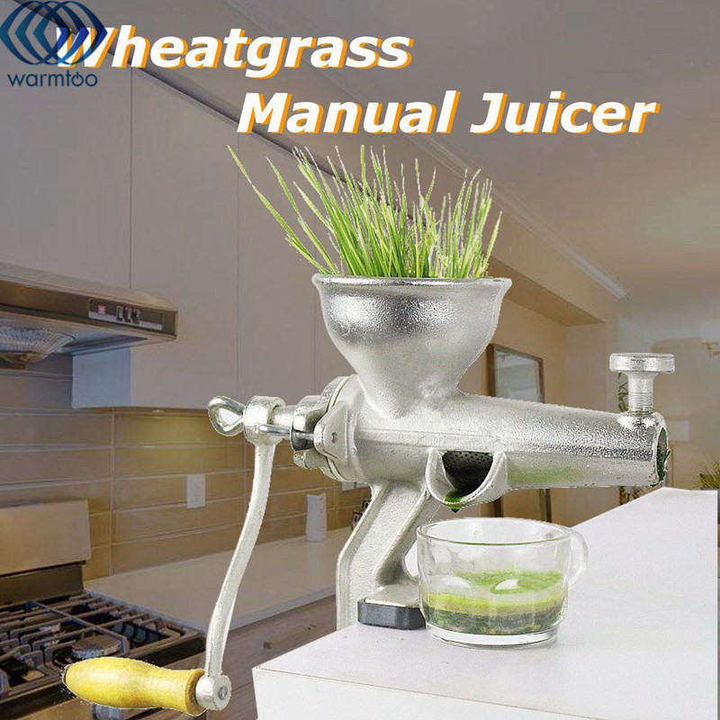 Manual Fruit Vegetable Juicer Metal Reamer Squeezer Wheat Grass Orange Juicer Hand Operated Home Kitchen Tools Accessories wheat grass juicer stainless steel manual home use vegetable orange juicing machine juice extractor