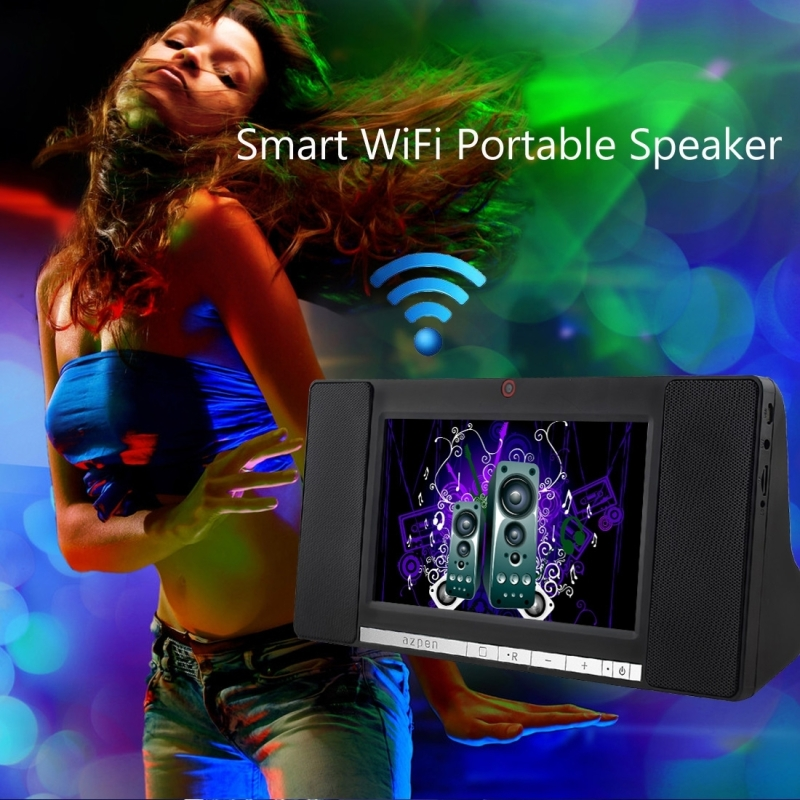 AZPEN A760 WiFi Smart Speaker 7.0 Touch Screen Android 5.1 Allwinner A33 Cortex A7 Quad Core 1.3GHz 1G ROM 8G 0.3MP