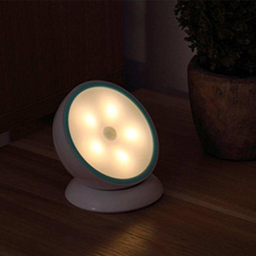 Warm white Creative 360rotate Intelligent LED Human Body Induction night light 2017 latest style usb charging bedroom led lamps