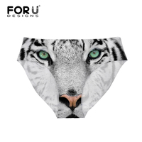 FORUDESIGNS Seamless Women Panties Comfort Sexy Animal Tiger Head Leopard Underwear Briefs Big Size Female Seamless