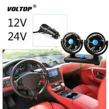 Powerful Cooling Fan 12V 24V Car Accessories for Truck Ornament Decoration Air Conditioning Cool Down