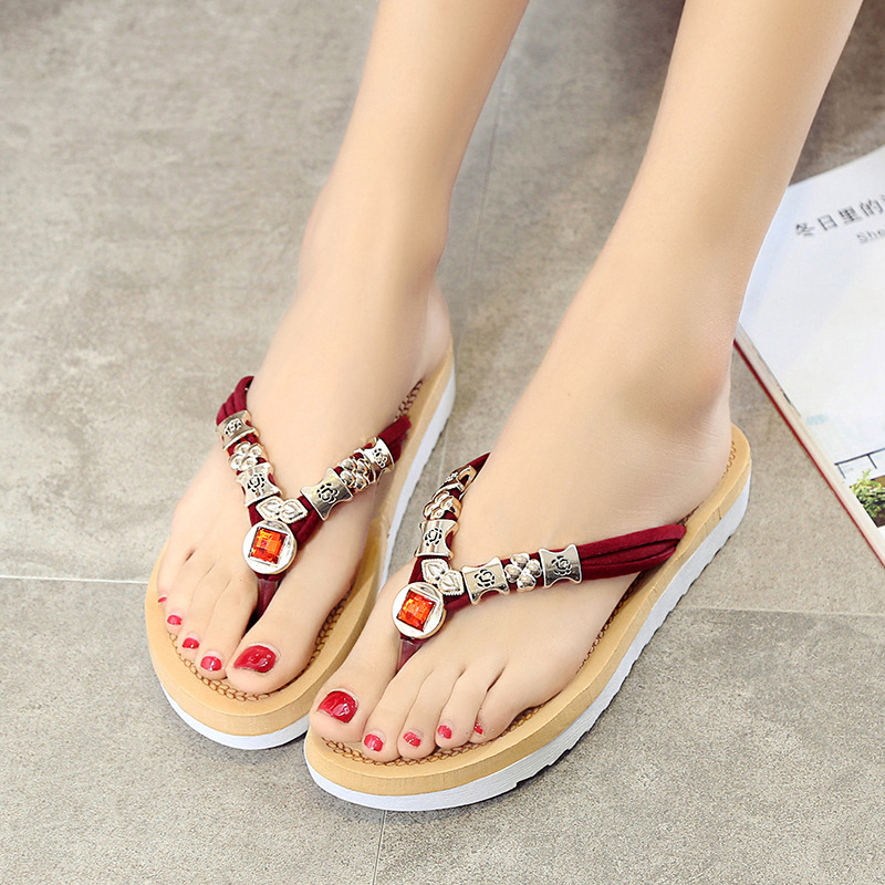 toe beads aliexpresscom buy 2017 female summer toe sandals with flat