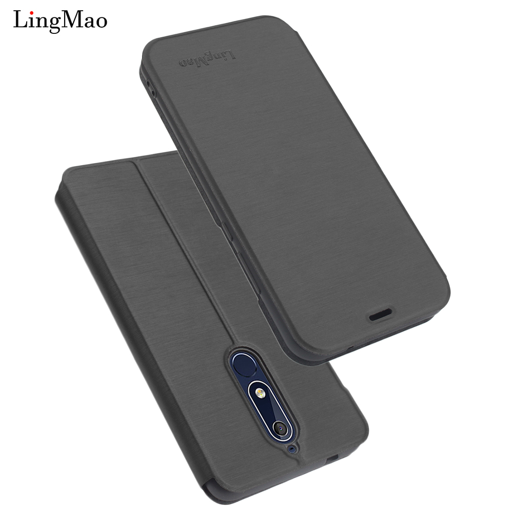 Nokia 2.1 Case Luxury Retro Flip Wallet Leather Cover for Nokia 5.1 Case Stand phone Case Nokia X6 6 2018 2.1 5.1 silicone Bags
