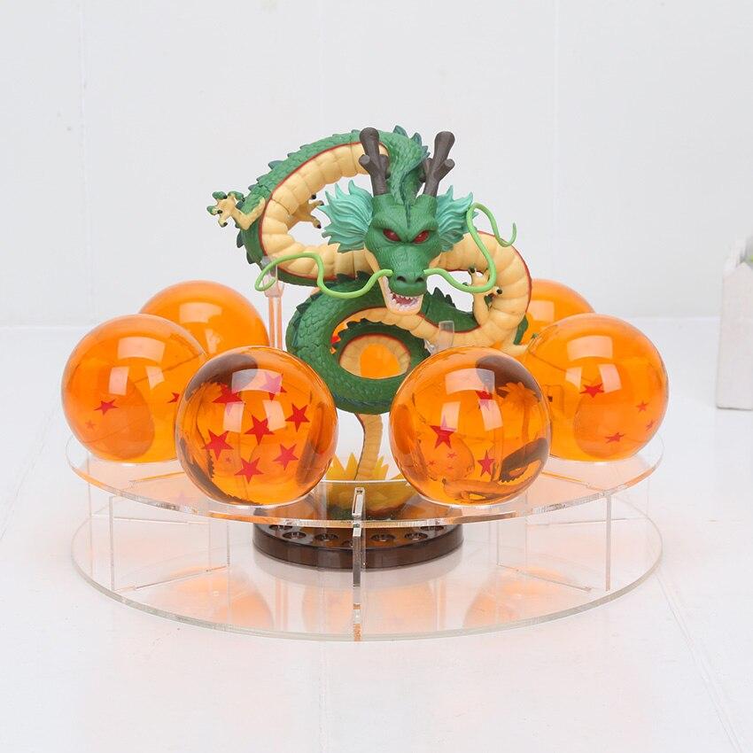 Nouveauté grosses boules de cristal 5.7 cm dragon ball z shenron & résine boules & présentoir shenlong PVC figurine jouet