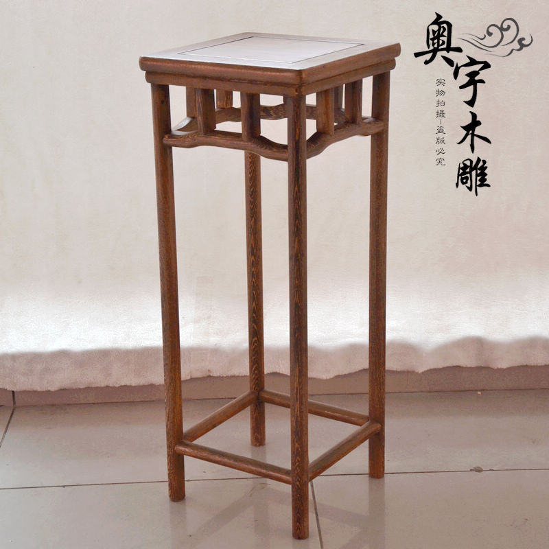 Dongyang резьба по дереву цветочный горшок стойку деревянные крылья несколько простых и практические multi угол полки внутри гостиная