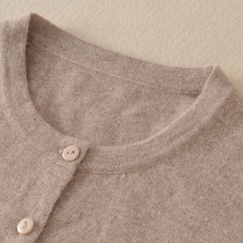 Women Jackets 100% Cashmere and Wool Knitted Sweaters Ladies Jumpers O-Neck Winter New Soft Sweater 8Colors Standard Clothes