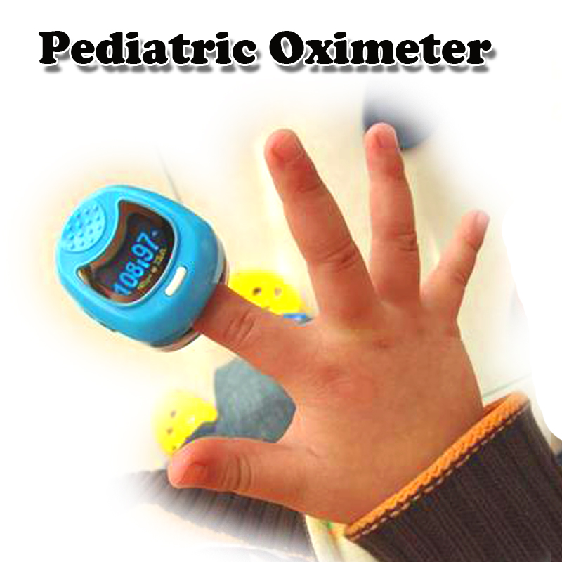 FDA CE Approved  O LED Pediatric Pulse oximeter  for Child Kids SPO2 Blood Oxygen Monitor with Rechargeable Battery цена 2017