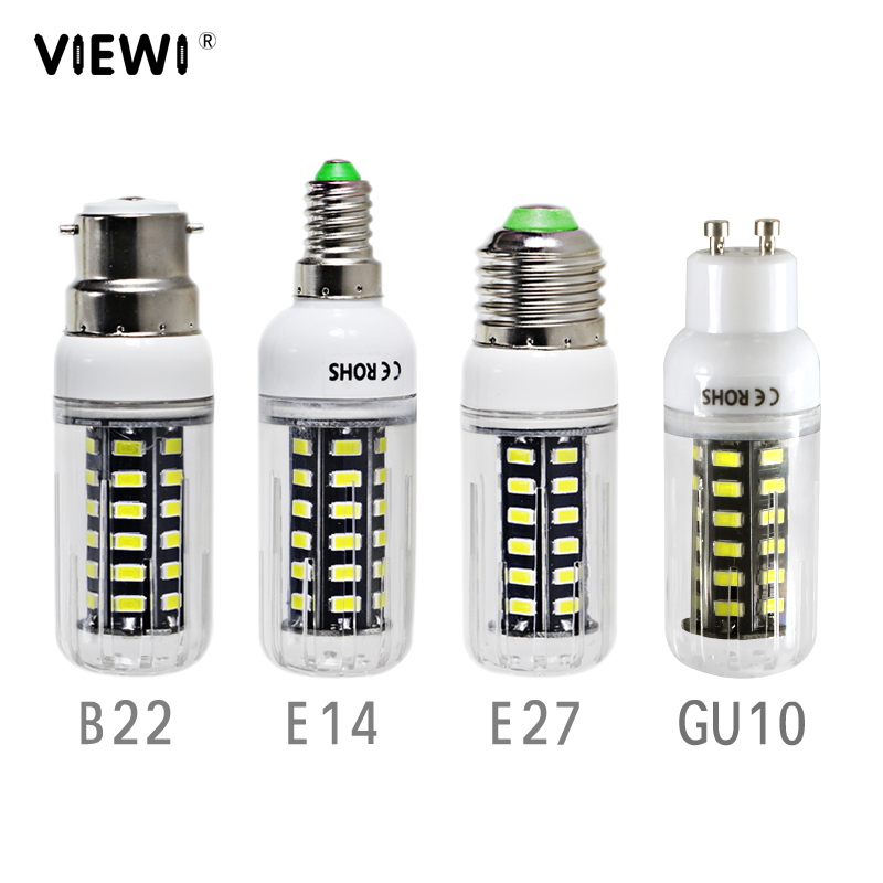 2X Lampadina Led E 14 E 27 B22 GU 10 7W Super Ac Dc 12 24 36 Volt Corn Bulb 110v 220v Energy Saving Lamp 12v 24v 36v 48v Lights