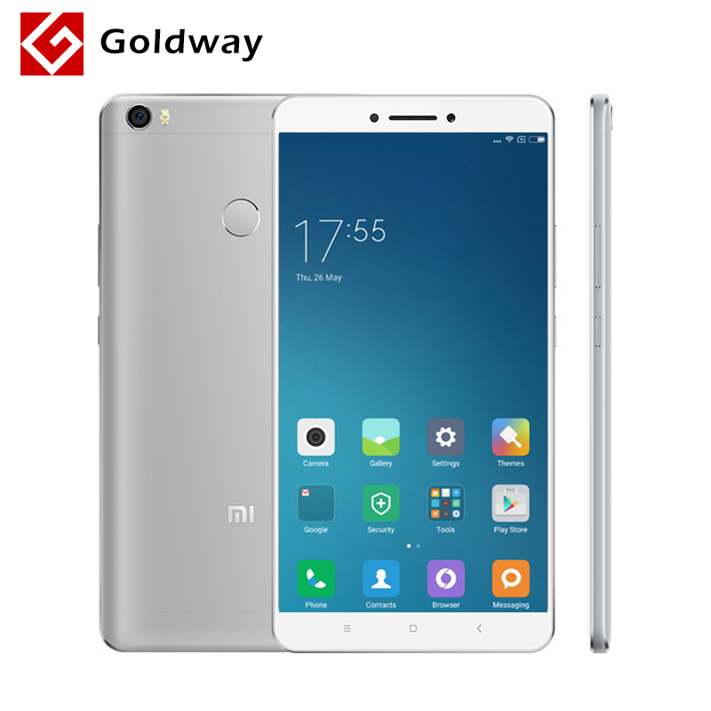 "Original Xiaomi Mi Max Pro Mimax 6.44"" 4850mAh Mobile Phone Snapdragon 652 Octa Core 1920x1080P 3GB RAM 64GB ROM Fingerprint ID"