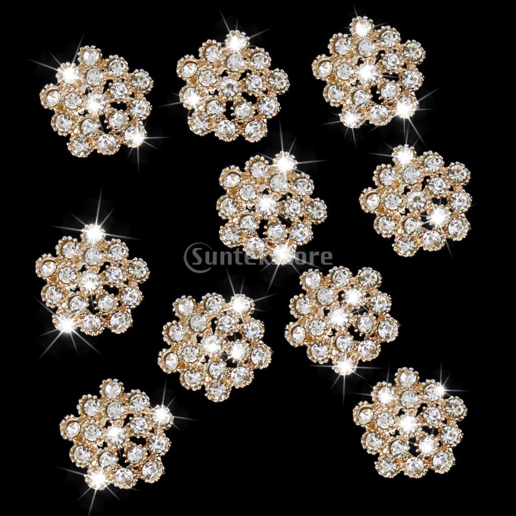 10 шт кристалл горный хрусталь цветок сливы Кнопки украшения 20 мм