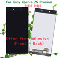 100% original lcd touch screen digitador assembléia para sony para xperia z5 premium e6883 display com adesivo livre