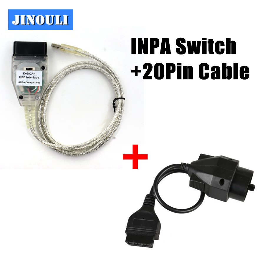 BMW INPA Ediabas SSS NCS K+D CAN OBD2 II USB Cable FTDI Chipset Coding Flash OBD